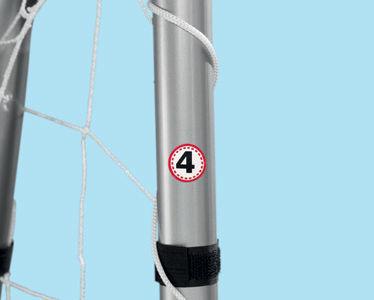 Футболна врата 240 x 170 x 85 см голяма метална пр