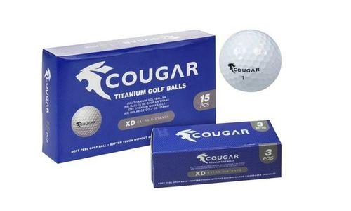 Комплект от 15 топки за голф Cougar XD-extra dista