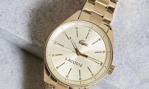 Дамски часовник Lacoste 2000898 златен аналогов гр