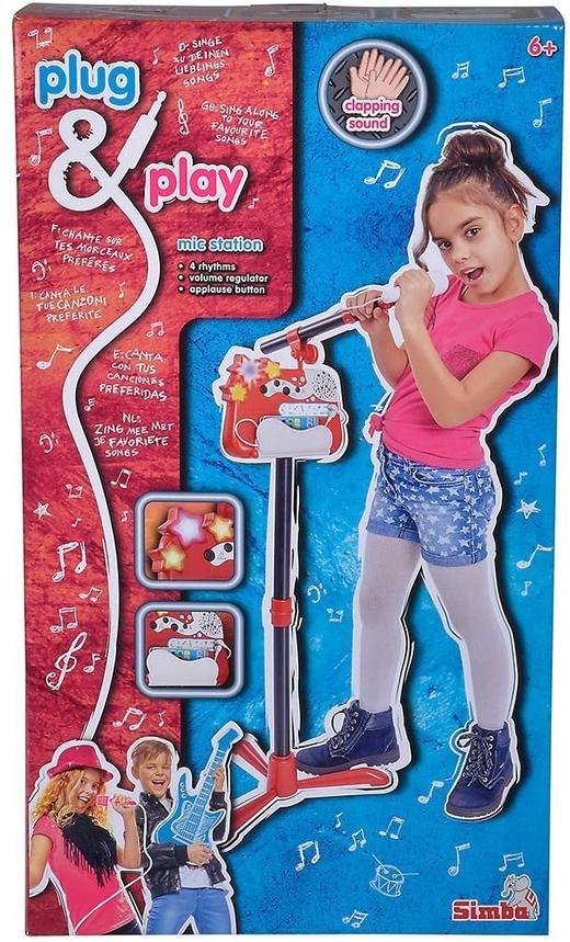 Детски микрофон със стойка Simba 106834432 Plug &